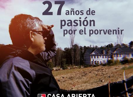 27 años de pasión por el porvenir