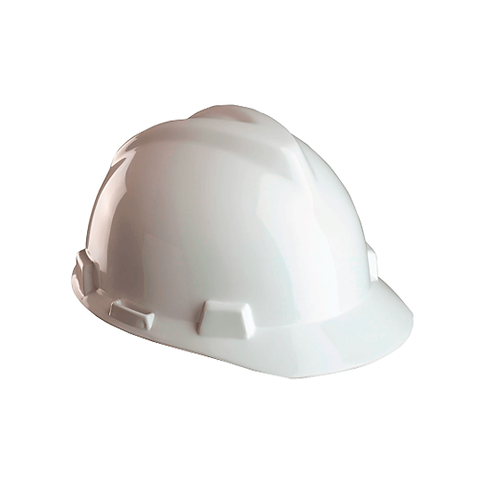 Casco blanco PVC