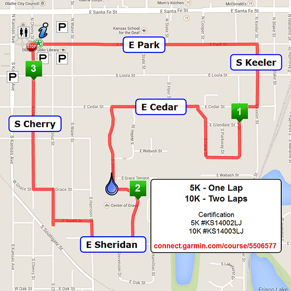 Course map for Kansas Heart & Sole Classic