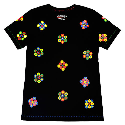 Flower Tshirt Black