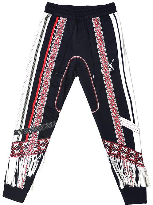 Beaded Track Pants Black