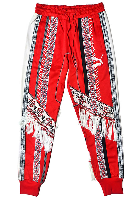 Beaded Pants Red