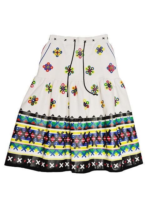 Flower Raffle Skirt