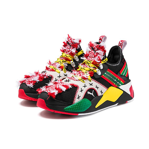 Puma x Jahnkoy  Rs-X Knit  Mens Black Canvas Low Top sneaker