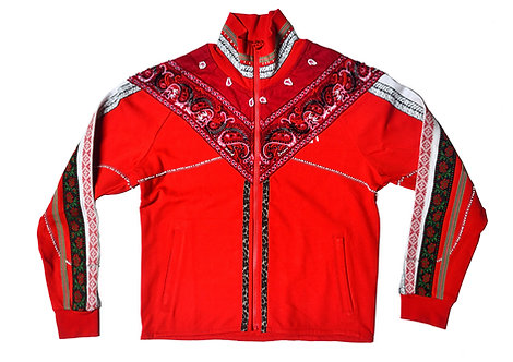 Beaded Track Jacket Red