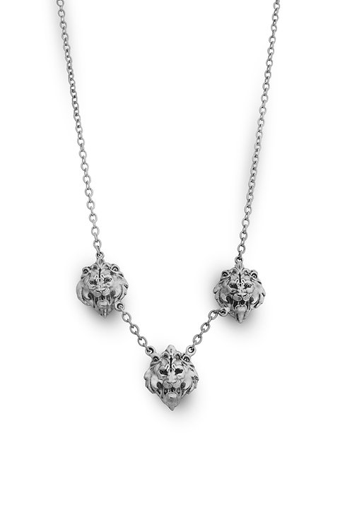 Lion Necklace Silver