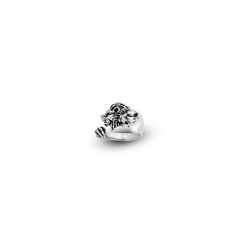Lion Couple Ring Silver