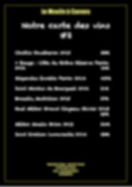 notre carte des vins