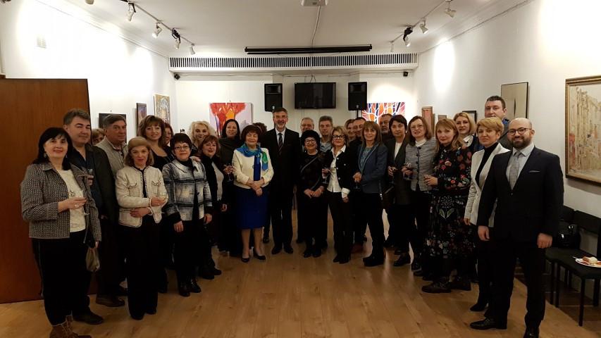 Българска делегация от директори на училища и детски градини, водена от г-жа Наталия Михалевска и г-