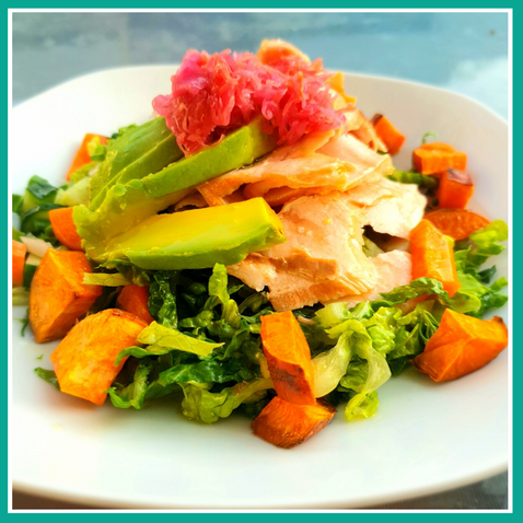 Sweet Potato & Salmon Salad!