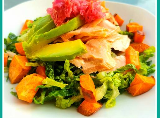 Sweet Potato & Salmon Salad!