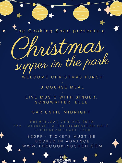 The Cooking Shed's Christmas supper - Jane Knight