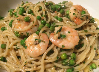 Crab & prawn spaghetti - the perfect Valentines dish