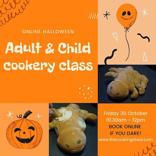 Halloween online cookery lesson - Spider bread & lemon hummus