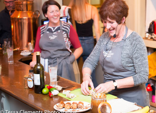 Jane Beedle's toffee & banana spring rolls