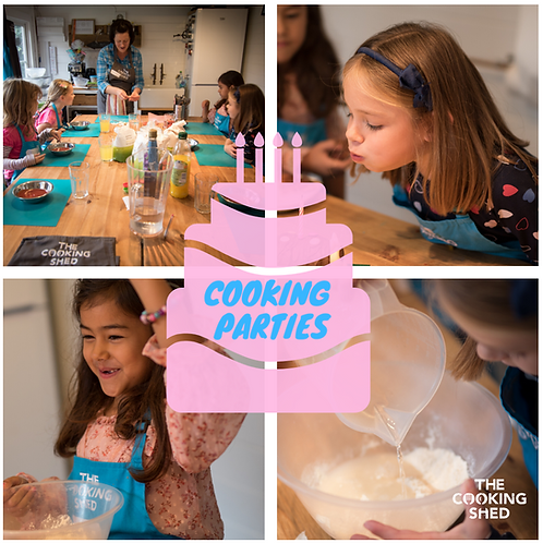 Online cooking birthday party