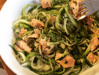 Summer salmon & courgetti recipe