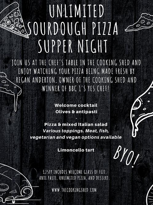 Social butterflies - unlimited sourdough pizza supper night...