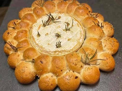 Camembert doughball wreath