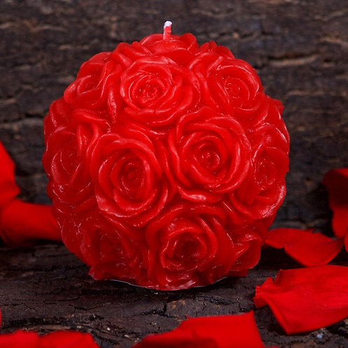 Silicone Candle Mold 3D Rose Ball Shape Handmade Soap Mould Craft Decorating