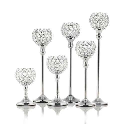 Crystal Candle Holders Table Centerpieces Metal Wedding Decoration for Home