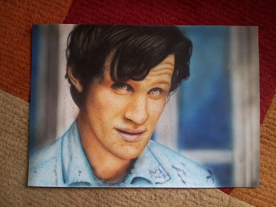 Dr Who - A3 - Airbrush acrylic paint