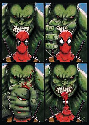 Hulk & Deadpool A3