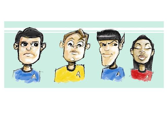 Star Trek Crew Caricatures