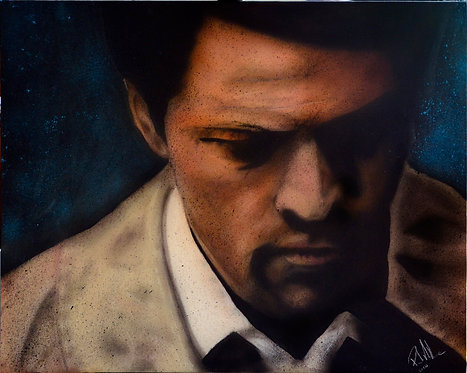 Castiel - Airbrush - on flat canvas