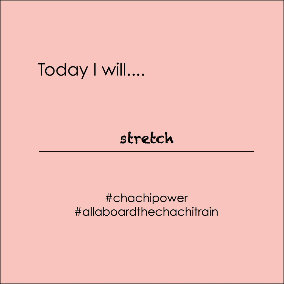 Chachi Power Project #allaboardthechachitrain Gif: Stretch