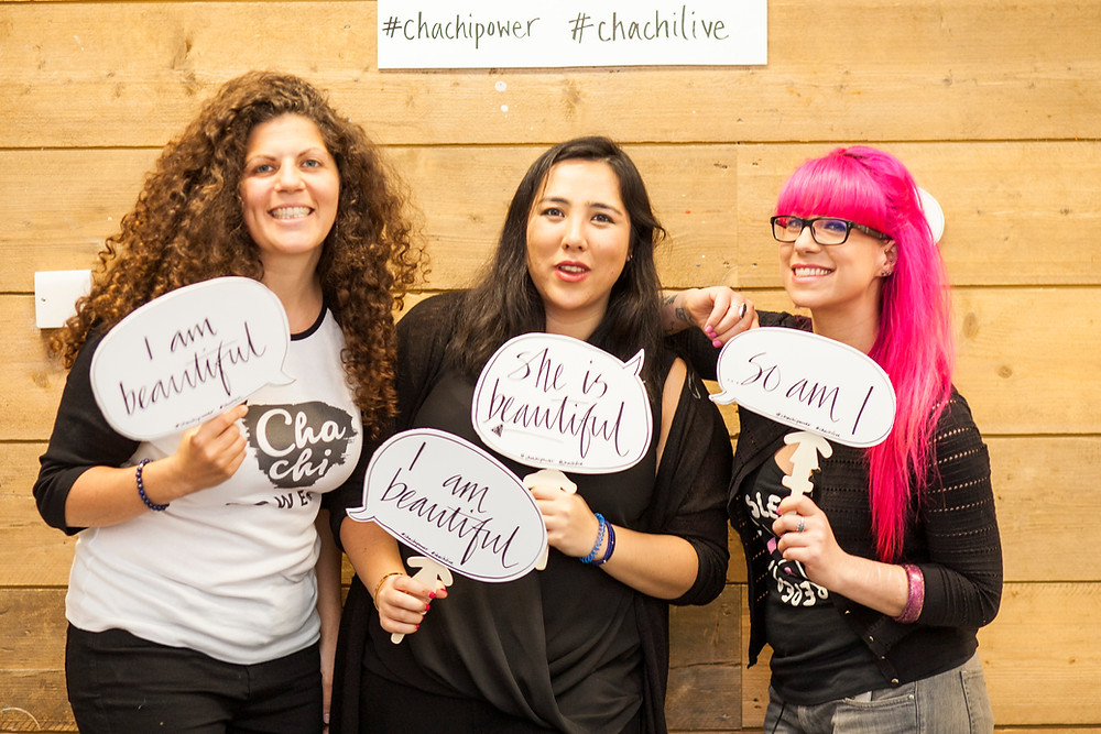 Chachi Power Project: Danni Gordon, Michelle Elman and Nadia Mendoza at Chachi Live 2017. Photo credit: Jannica Honey