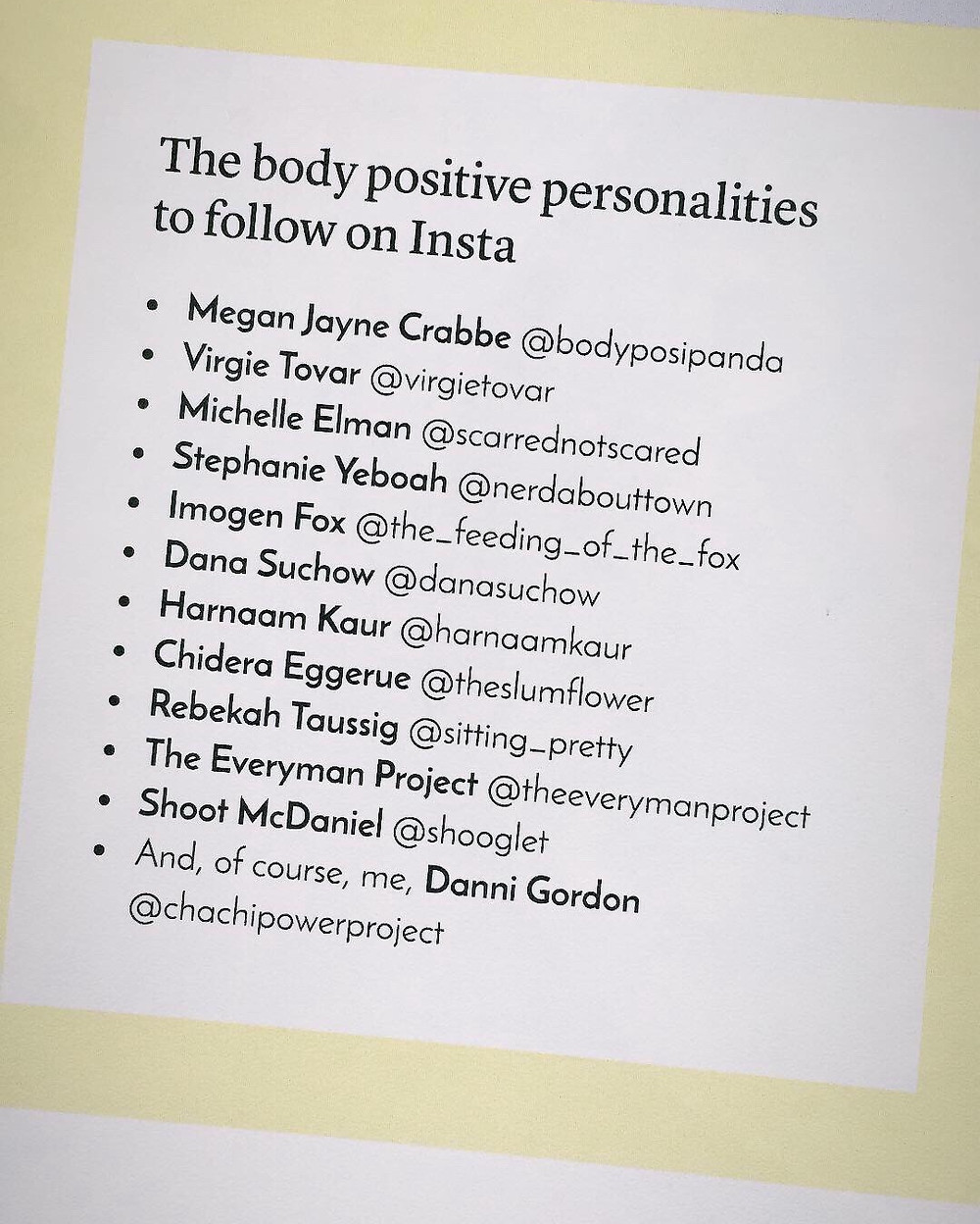 Hood Magazine: Top Body Positive Personalities by The Chachi Power Project