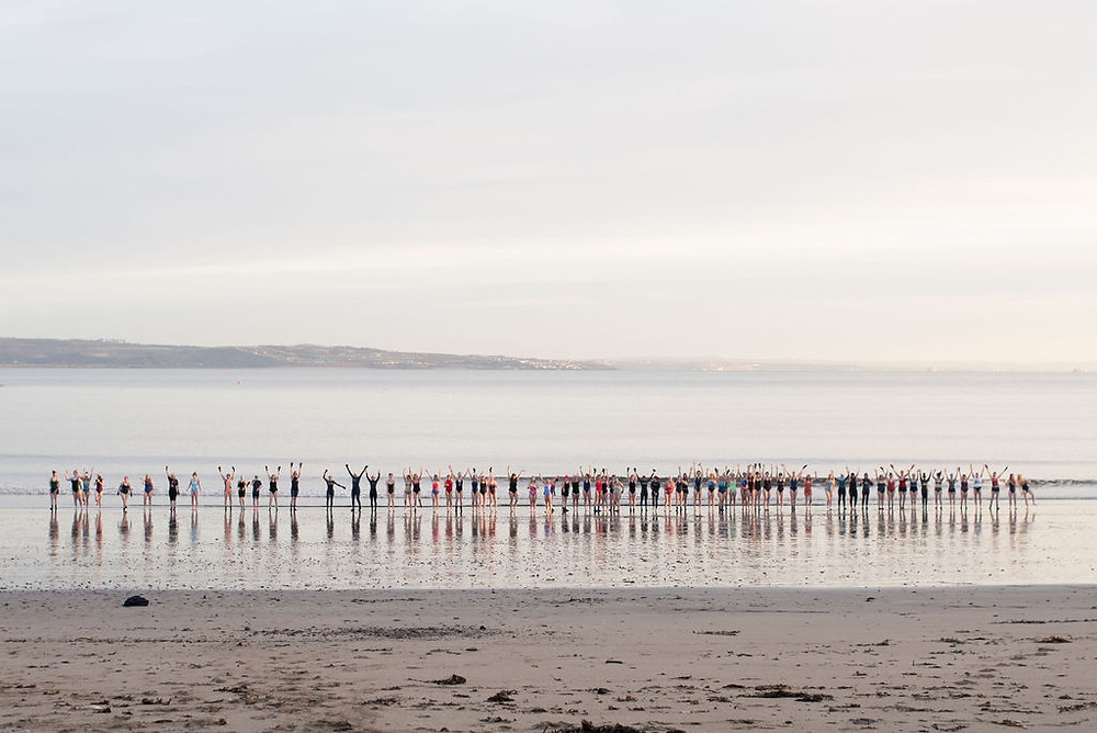 69 women take an icy plunge in Edinburgh for International Women's Day 2019