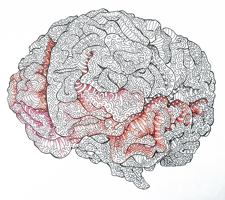 Chachi Power Project: Brain artwork by @artworkbyemilie