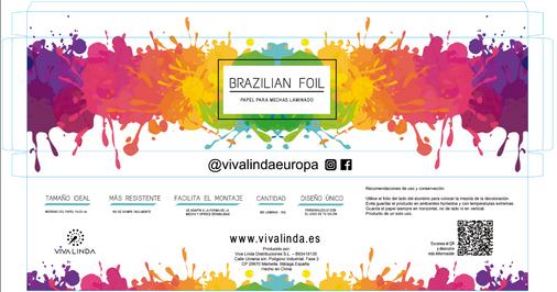 Caja papel de mechas Brazilian foil 2.PN