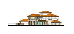 Thouse elevations Flat2