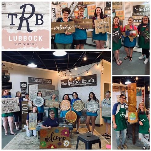 Rustic Brush Fundraising Paint Workshop