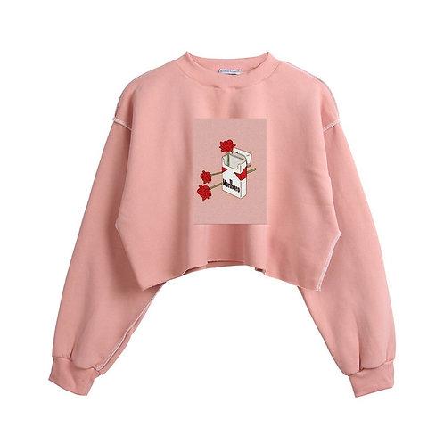 Marlboro Rose Crop Sweater