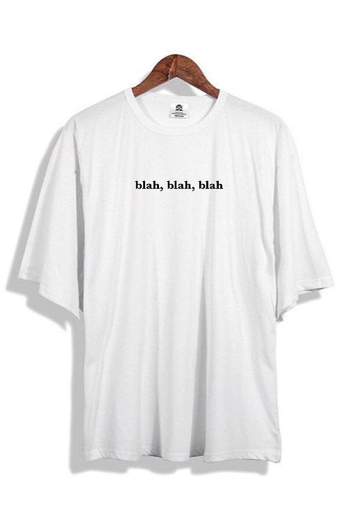 blah blah blah T-Shirt White