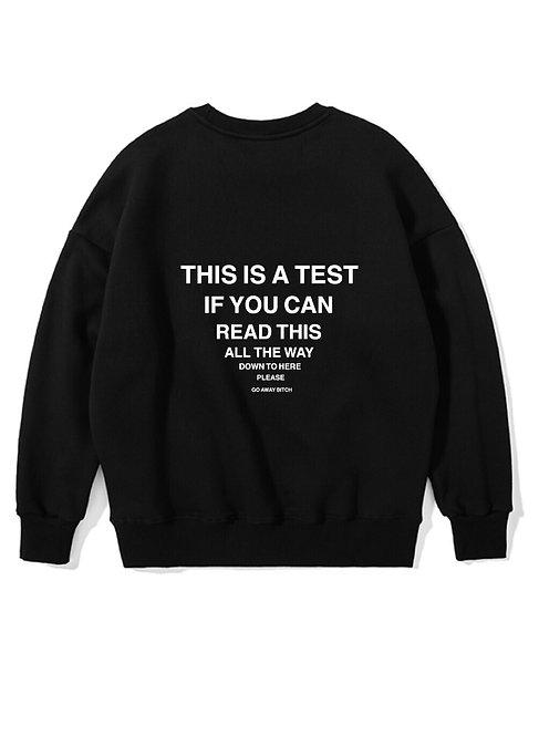 Test Crewneck Black