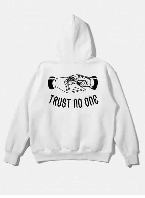 Trust No One Hoodie White