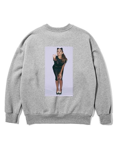 Ariana Grande Fuck Crewneck Grey