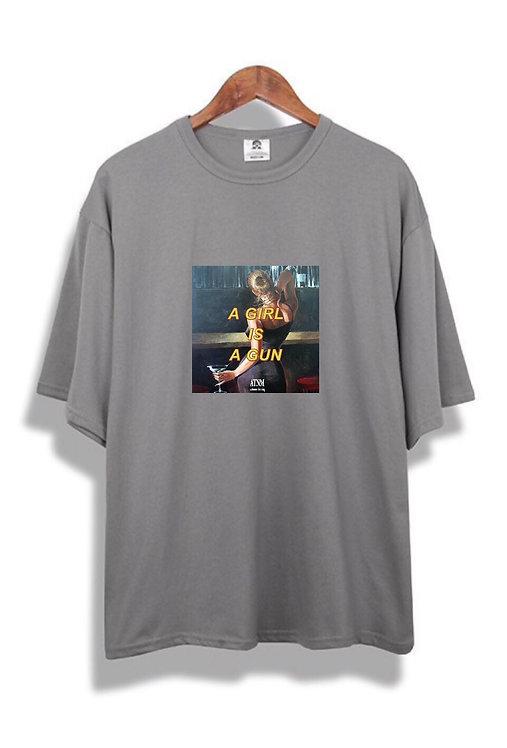 Girl Gun T-Shirt Grey