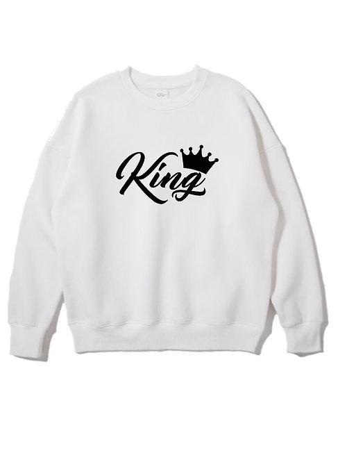 King Crewneck white