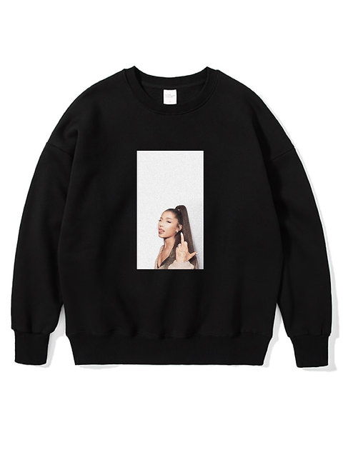 Ariana Grande Crewneck Black