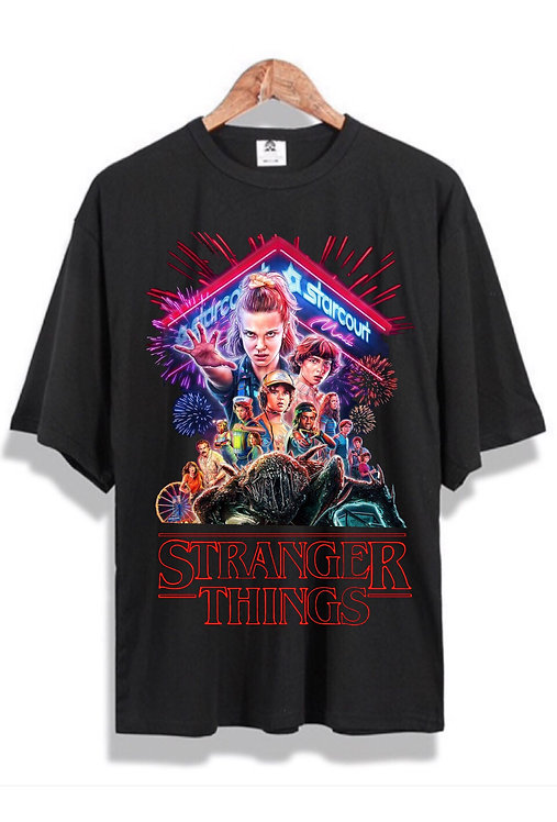 Retro Stranger Things Tee Black
