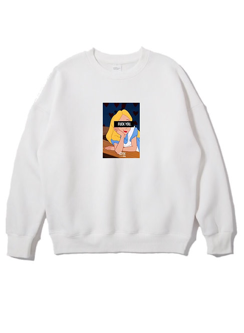 Fuck You Alice Crewneck White