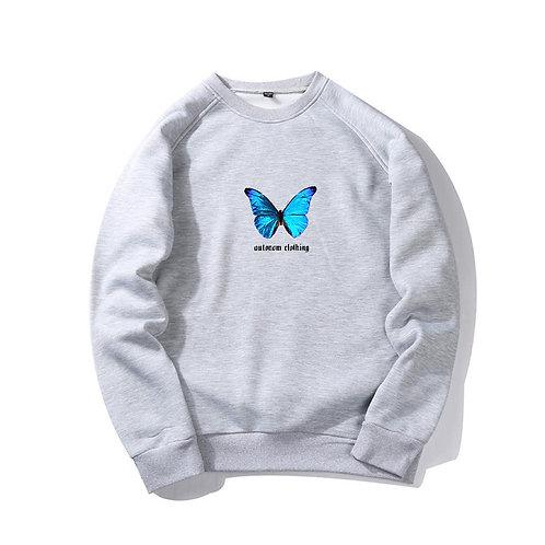 Blue Butterfly Crewneck