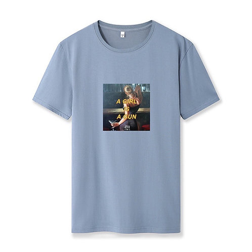 Girl Gun Shirt Dusty Blue