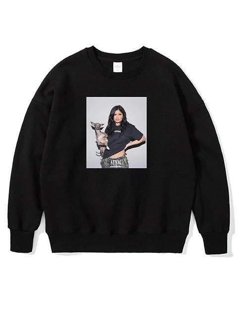 Kylie Jenner Crewneck Black